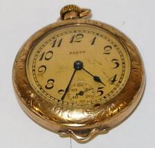 Antique Elgin Ladies Pocket Watch 3/0 size Gold filled case