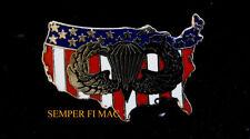 Parachute RIGGER USA WING LAPEL HAT PIN US ARMY MARINES NAVY AIR FORCE PARACHUTE