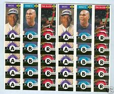 Ray Allen 1996-97 RC Rookie Triple Mini Gold '96 Upper Deck 10 Card LOT #M159