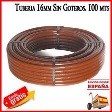 Goma de riego por goteo marrón tubo 16mm sin goteros polietileno 100 metros drip