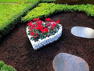10cm Optimale Höhe Herz Gitter Pflanzschale Grabschmuck Grabgestaltung Korb