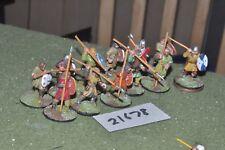 25 mm Dark Ages/ANGLO Saxon-GUERRIERI 12 Fichi FANTERIA-INF (21678)