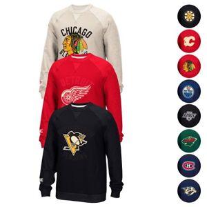 NHL CCM Retro Team Logo Fleece Crewneck Sweatshirt Collection Men's