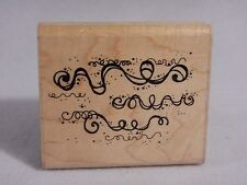 D.O.T.S Rubber Stamp Mounted on Wood : Q 145 Party Streamers - Confetti