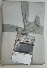 Nordstrom NO407390KI Reversible Gray Duvet King 100% Cotton Grey Charcoal