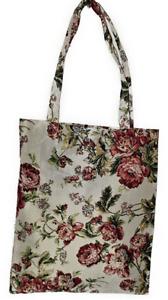 Blumen Einkaufsbeutel Buschrosen Gobelin Shopper Einkaufstasche Umwelttasche