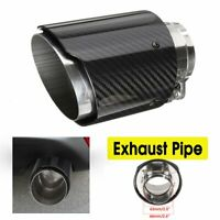 "3""/ 4"" In/Outlet Car Exhaust Pipe Tail Muffler End Tip Universal Carbon Fiber"