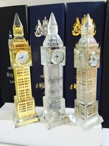 London Big Ben Crystal Clock with lights Table Shelf Showpiece Souvenir Gift