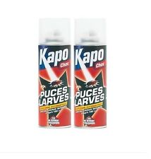 2 INSECTICIDE PUCES LARVES CHOC ANTI INFESTATION KAPO