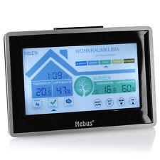 Mebus Funk Wetterstation Farbdisplay Thermometer Außensensor Digital Hygrometer