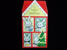 "VINTAGE ""TO NANNA AND GRANDDAD - UNUSED!!"" CHRISTMAS GREETING CARD"