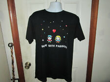 Logitech Game with Passion 8bit Style T Shirt Sz Large