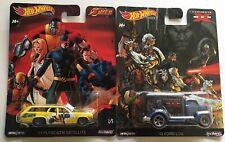 Hot Wheels premium X-Men 2 set of cars/ 49 Ford COE / Plymouth Satellite 71