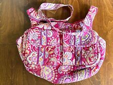 Vera Bradley Large Crossbody Raspberry Fizz Pink/Orange Paisley Shoulder