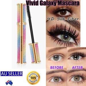 AU 4D Silk Fiber Mascara Eyelash Waterproof Extension Volume Long Lasting Makeup