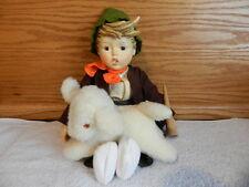 """Vintage Hummel Goebel Lost Sheep 68/D Porcelain 1986 14"""" Doll With Box"""