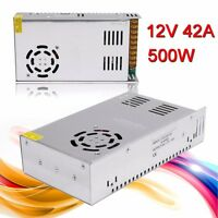 DC 12V 42A 500W Universal Regulated Switching Power Supply For LED Strip AC-DC