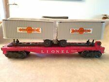 POSTWAR LIONEL 6430 FLAT CAR & COOPER-JARRETT TRAILERS