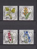 Berlin 1981 gestempelt Ersttag Nr. 650 - 653 Luxus Vollstempel - Blumen Flowers