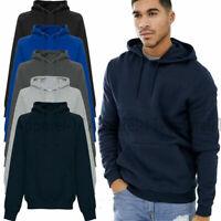 Men's Boys Casual Plain Jumper Pullover Top Activewear Sweatshirt Hoodie UKS-5XL
