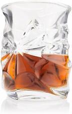 Spades Glassware - Vortex Whiskey Glasses, Set of 4 - Heavy Scotch Tasting Glass