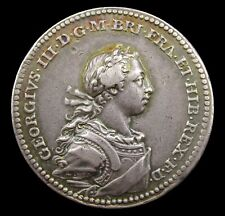 More details for 1761 coronation of george iii official silver medal - by natter