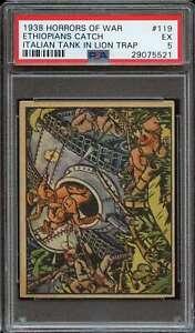 1938 GUM INC. HORRORS OF WAR R69 #119 ETHIOPIANS CATCH ITALIAN PSA 5 *DS10757