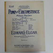 piano solo POMP & CIRCUMSTANCE  1 in D  , elgar military march