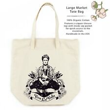 Frida Viva La Vita Organic Cotton Large Market Tote Bag