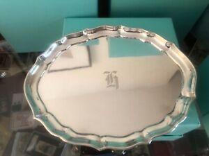 """Sterling Silver Gorham Chippendale 7 1/2"""" Tray Very Nice!"""