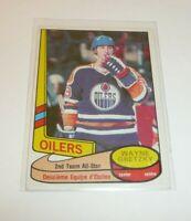 1980 Wayne Gretzky Card Oilers 2nd Team All Star NHL Hockey O-Pee-Chee NHLPA 80s