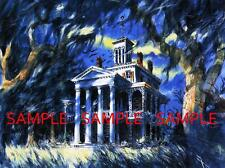 "Vintage Disneyland Haunted Mansion Painting [ 8.5"" x 11"" ] Poster"