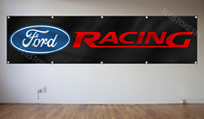Ford Racing Banner Flag 2x8Ft Car Saleen Mustang Shelby Cobra Cortina Workshop
