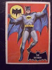 1966 Topps Batman #1 *The Batman* Black Bat Series 1 Very Good Condition Vintage