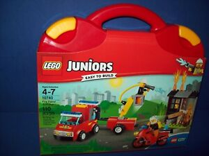 LEGO 10740 Juniors FIRE PATROL SUITCASE Easy To Build Playset sealed age 4-7