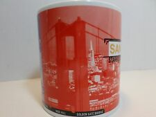Vtg Starbucks San Francisco 1999 Coffee Mug Golden Gate Bridge