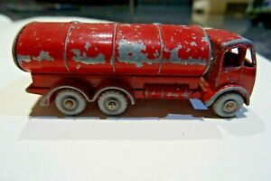 LESNEY NO 11 RED PETROL TANKER - PLAYWORN.