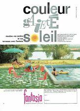 "PUBLICITE ADVERTISING 126  1962  Salon de jardin  Fantasia  "" San Remo """