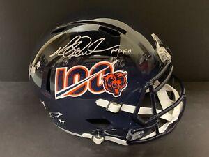 Richard Dent Singletary Chicago Bears 100th Ann MULTI Signed Full Size Helmet