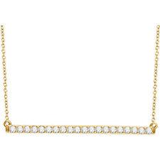 Diamante Barra 40,6 -45 , 7cm Collar en 14k ORO AMARILLO ( 1/2 Ct. TW