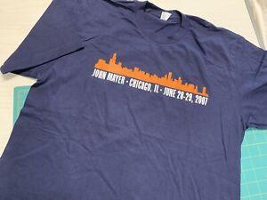 "JOHN MAYER T-Shirt ""New"", Chicago, IL June28-29,2007 Concert Tee, Size med"