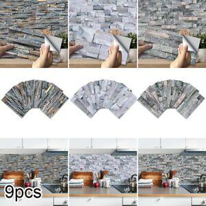 Self Adhesive Brick Tile 3D Sticker Kitchen Bathroom Wall Stickers Modern Decor