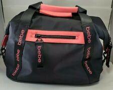 BEBE Melanie Pink and Black Duffle Bag Black
