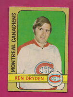 1972-73 OPC # 145 CANADIENS KEN  DRYDEN  2ND YEAR   CARD
