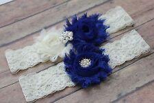 Royal blue garter, wedding garter blue, prom garter, blue garter belt, US seller
