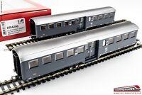 "RIVAROSSI HR4298 - H0 1:87 - Set 2 carrozze ""Corbellini"" tipo 1947 2 assi 2° cl."