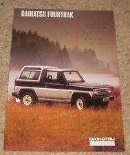 Daihatsu Fourtrak  Brochure