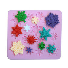 Silicone DIY Snowflake Fondant Cake Mold Chocolate Mould Clay Mould Crafts Decor