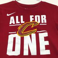 Cleveland Cavaliers All for One Basketball NBA Nike Men's T Shirt Small S Red