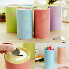 HOT Lovely Piggy Bank Saving Coin Money Tin Boxes Cartoon Zoo Kids Gift Stand DS